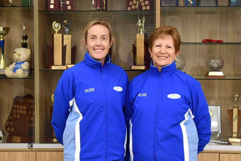 Stephanie Harrison and the C&DNA coaching co-ordinator Lyn Hahn. Picture: Supplied